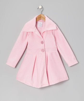 Light Pink Button Coat - Infant, Toddler & Girls