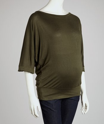 Olive Maternity Dolman Top