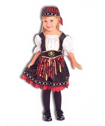Black Lil' Pirate Cutie Dress-Up Outfit - Toddler & Girls