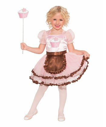 Pink Cupcake Princess Dress-Up Outfit - Girls