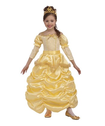 Yellow Beautiful Princess Dress-Up Set - Girls