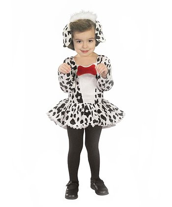 Black & White Dalmatian Dress-Up Outfit - Toddler
