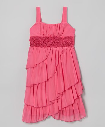 Fuchsia Rosette Dress