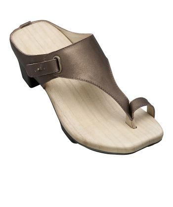 Bronze Yuzu Leather Sandal - Women