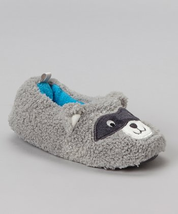Gray Huan Raccoon Slipper