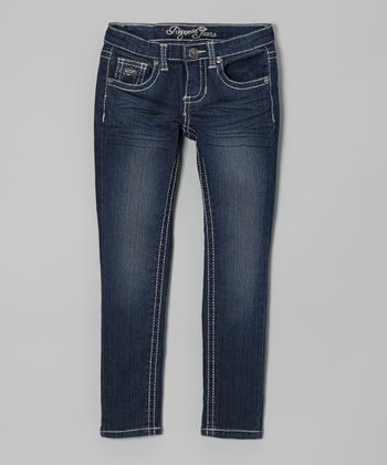 Skyline Wash Skinny Jeans - Girls
