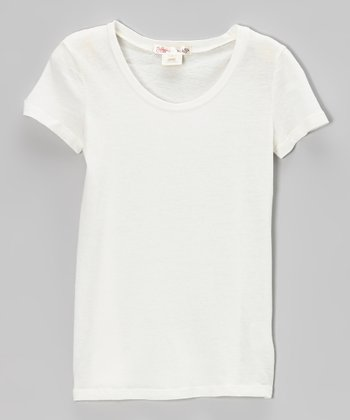 Vanilla Scoop Neck Tee - Girls