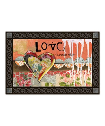 'Love Always Wins' Indoor Floor Mat