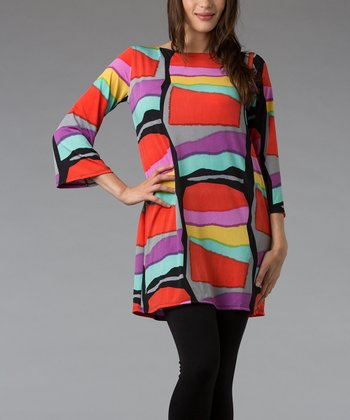 Stained Glass Three-Quarter Sleeve Tunic