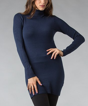 Navy Turtleneck Tunic