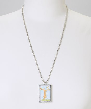 Silver 'Guess How Much I Love You' Pendant Necklace