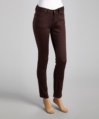 Coffee Skinny Pants