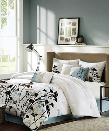 Blue Plants Adrienne Comforter Set