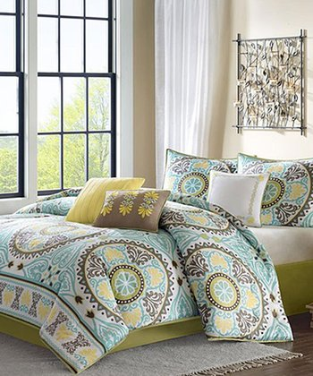 Blue & Yellow Summer Comforter Set
