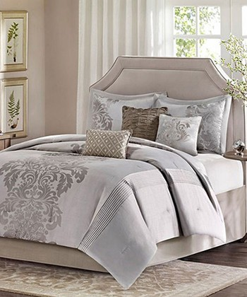 White & Beige Royal Amarisse Comforter Set