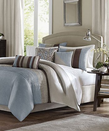 Blue & Brown Stripe Ashley Duvet Set