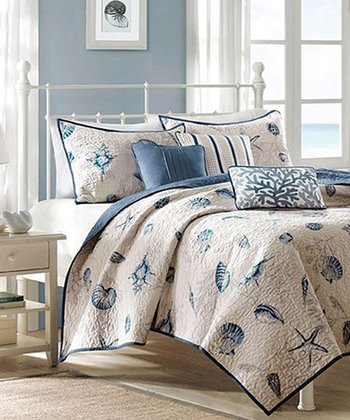 Blue Beach Aarika Quilt Set