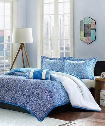 Blue Paisley Brooke Comforter Set