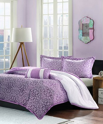 Purple Paisley Brooke Comforter Set