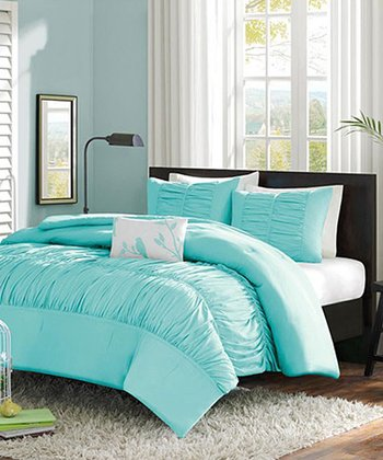 Light Blue Ruffle Chelsea Duvet Set