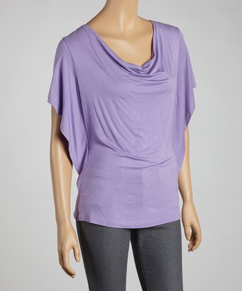 Orchid Cape-Sleeve Top