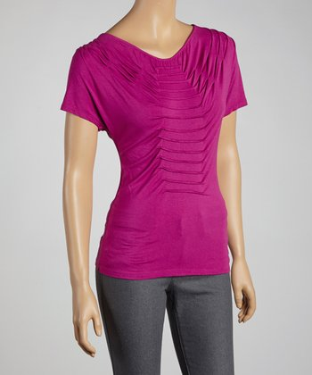Iris Pleated Top