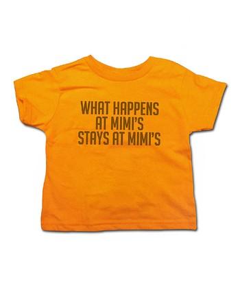 Mandarin 'What Happens at Mimi's' Tee - Toddler & Kids