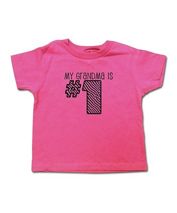 Hot Pink 'My Grandma Is #1' Tee - Toddler & Girls