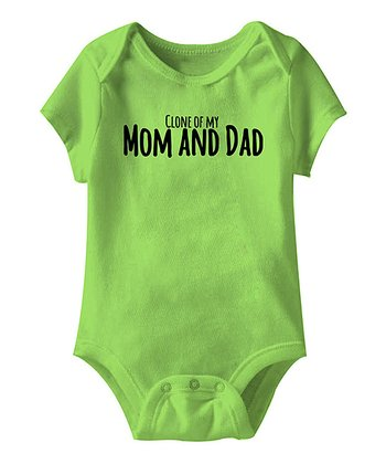 Key Lime 'Clone of My Mom and Dad' Bodysuit - Infant
