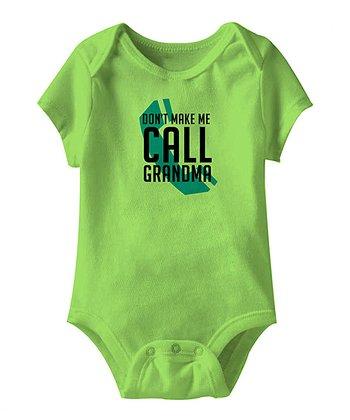 Key Lime 'Don't Make Me Call Grandma' Bodysuit - Infant