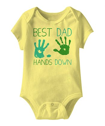 Banana 'Best Dad Hands Down' Bodysuit - Infant