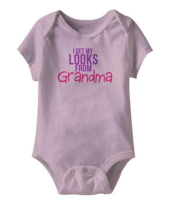Lilac 'I Get My Looks From Grandma' Bodysuit - Infant