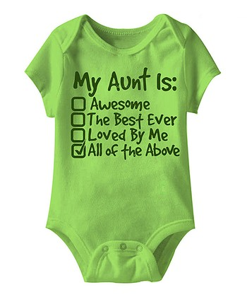 Key Lime 'My Aunt Is' Bodysuit - Infant