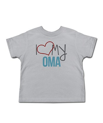 Silver 'I Love My Oma' Tee - Toddler & Kids