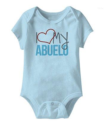 Light Blue 'I Love My Abuelo' Bodysuit - Infant