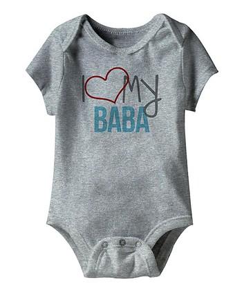 Heather Gray 'I Love My Baba' Bodysuit - Infant