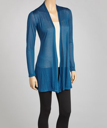 Teal Sheer Open Cardigan - Women