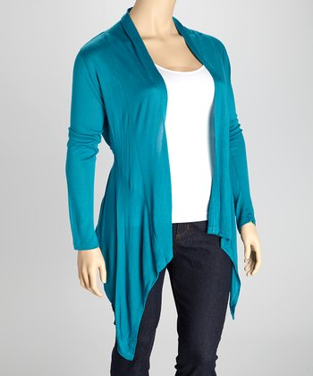 Jade Open Long-Sleeve Cardigan - Plus