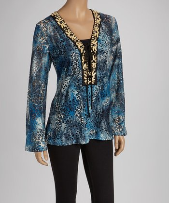 Blue Status Long-Sleeve Top