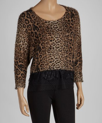 Brown Leopard Mesh Crop Top