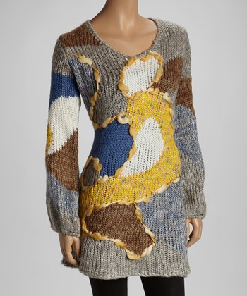 Blue & Yellow Turns Sweater