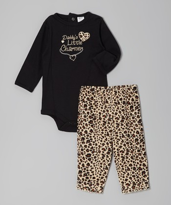 Black 'Little Charmer' Bodysuit & Pants - Infant