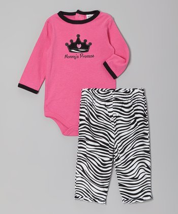 Hot Pink 'Mommy's Princess' Bodysuit & Pants - Infant