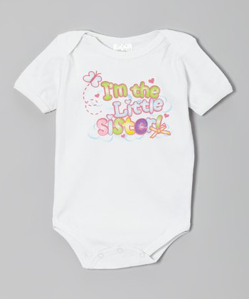White 'Little Sister' Bodysuit