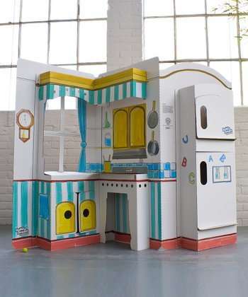 Cardboard Pop & Play Kitchen