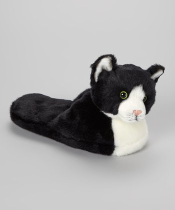 Black & White Cat Slipper