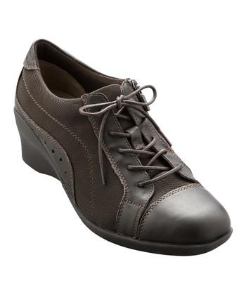 AKAISHI Dark Brown Haori Wedge Shoe