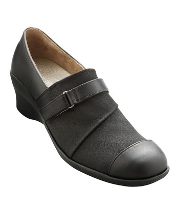 Black Leather Saya Shoe