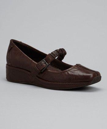 Antia Shoes Mocha Leather Grace Mary Jane