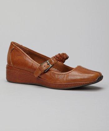 Antia Shoes Cognac Leather Grace Mary Jane